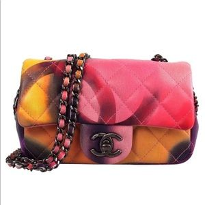 Chanel Mini flower power lambskin shoulder bag